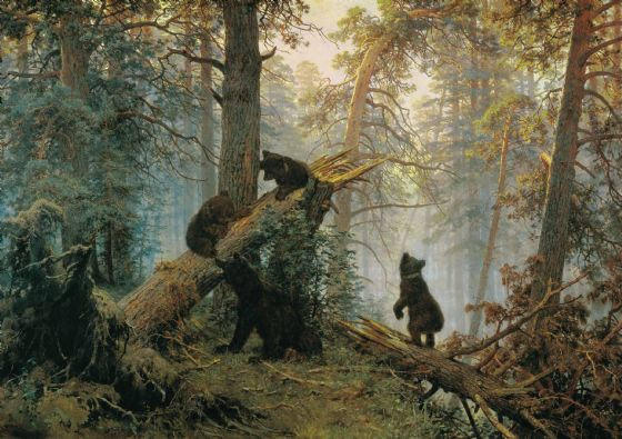 Shishkin, Ivan Ivanovich: Morning in a Pine Forest . Fine Art Print/Poster (4947)